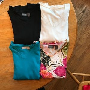 Chico 3/4 sleeve size 2 tops ( 4 tops total)